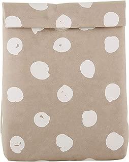 SB Design Studio F2802 Table Sugar Kraft Washable Paper Lunch Bag, 7 x 9.75 x 5-Inches, Dots