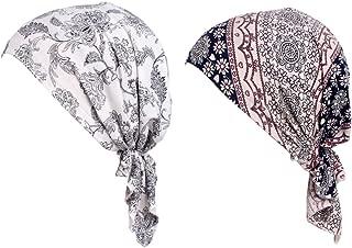 Bandana Pr/é-Attach/ée Bandana Turbante Coton T/ête de Couchage Cap Head Wrap Multifonction Couvre-Chefs pour Le Cancer Amorar Mode Chemo Turban /à Paillettes