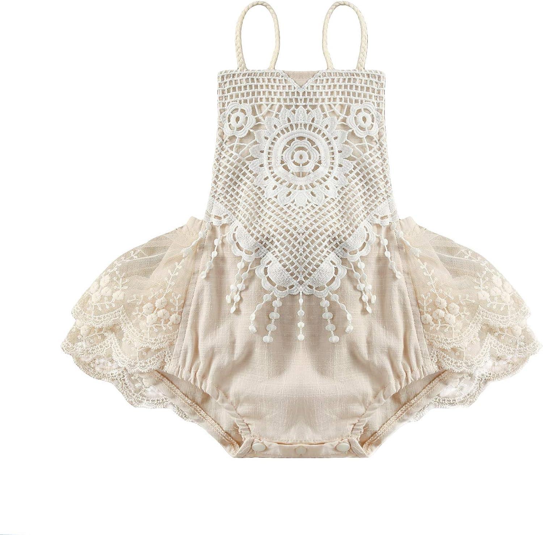 Infant Toddler Baby Girl Time sale Houston Mall Romper Bodys Tassel Crochet Halter Lace