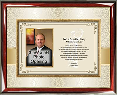 Personalized Lawyer Gift Poetry Law School Graduate Picture Frame or Passing the Bar Gift Unique Present