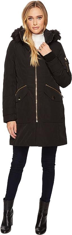 Calvin Klein - Parka with Detachable Fur Trimmed Hood