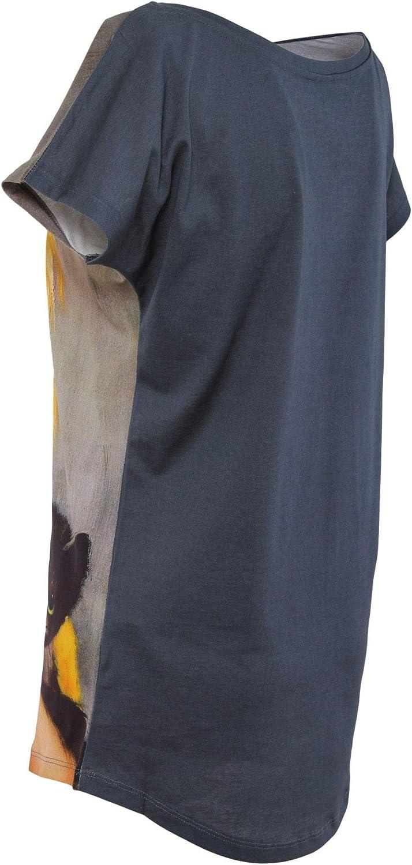 VESTI L'ARTE Women's MK03TSX Multicolor Cotton TShirt