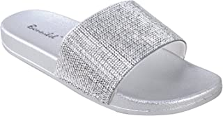Bonnibel Women's Metallic Flat Slide Sandal