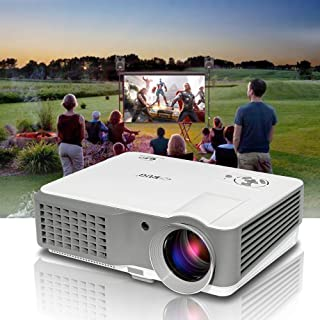 Video Projector HD 1080P Support Indoor Outdoor Movie Projectors for Home Theater Party Gaming Multimedia Proyector with 2...