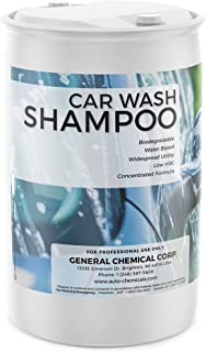 AutoGeneral - Car Wash Shampoo - Concentrated Pre-Wax Wash For Auto Detailing - Foaming Soap - Biodegradable, PH Balanced, and Low-VOC Formula - For Automotive Exteriors - 55 Gallon Drum
