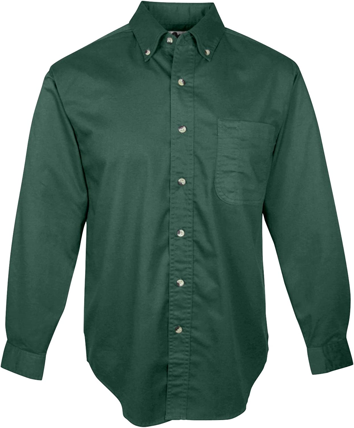 Tri-Mountain 770 Mens 60/40 Stain Resistant Long Sleeve Twill Shirt