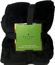 Kate Spade New York Midnight Black Full/Queen Plush Micromink Blanket