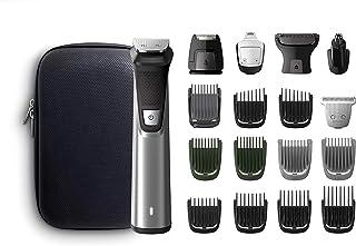 Philips Barbero MG7770/15  Recortador de barba y pelo, óptima precisión, 18 en 1 tecnología Dualcut, autonomía de 120 minutos, batería, Negro/Plata