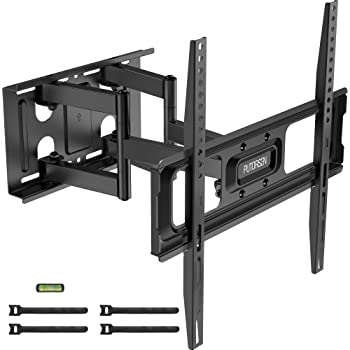 "PUTORSEN® Soporte de TV Pared Articulado Inclinable y Giratorio – Soporte de TV para Pantallas de 32-70"", Max VESA 400x400 mm, para Soportar 50 kg, Nivel De Burbuja Incluidos y 4 Bridas para Cables"