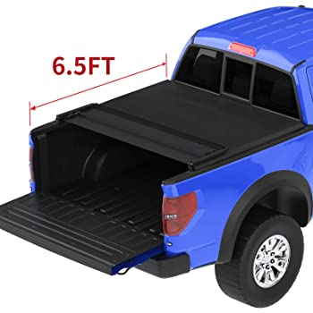 Amazon Com Rugged Liner Premium Soft Folding Truck Bed Tonneau Cover Fcf6515 Fits 2015 2020 Ford F 150 6 7 Bed 78 9 Automotive