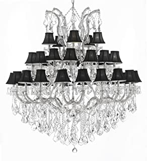 Maria Theresa Empress Crystal (tm) Chandelier Chandeliers Lighting With Black Shades! H 60