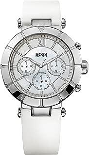 1502314 Hugo Boss Women's Watch Chronograph Quartz Nacre Dial White Rubber Strap