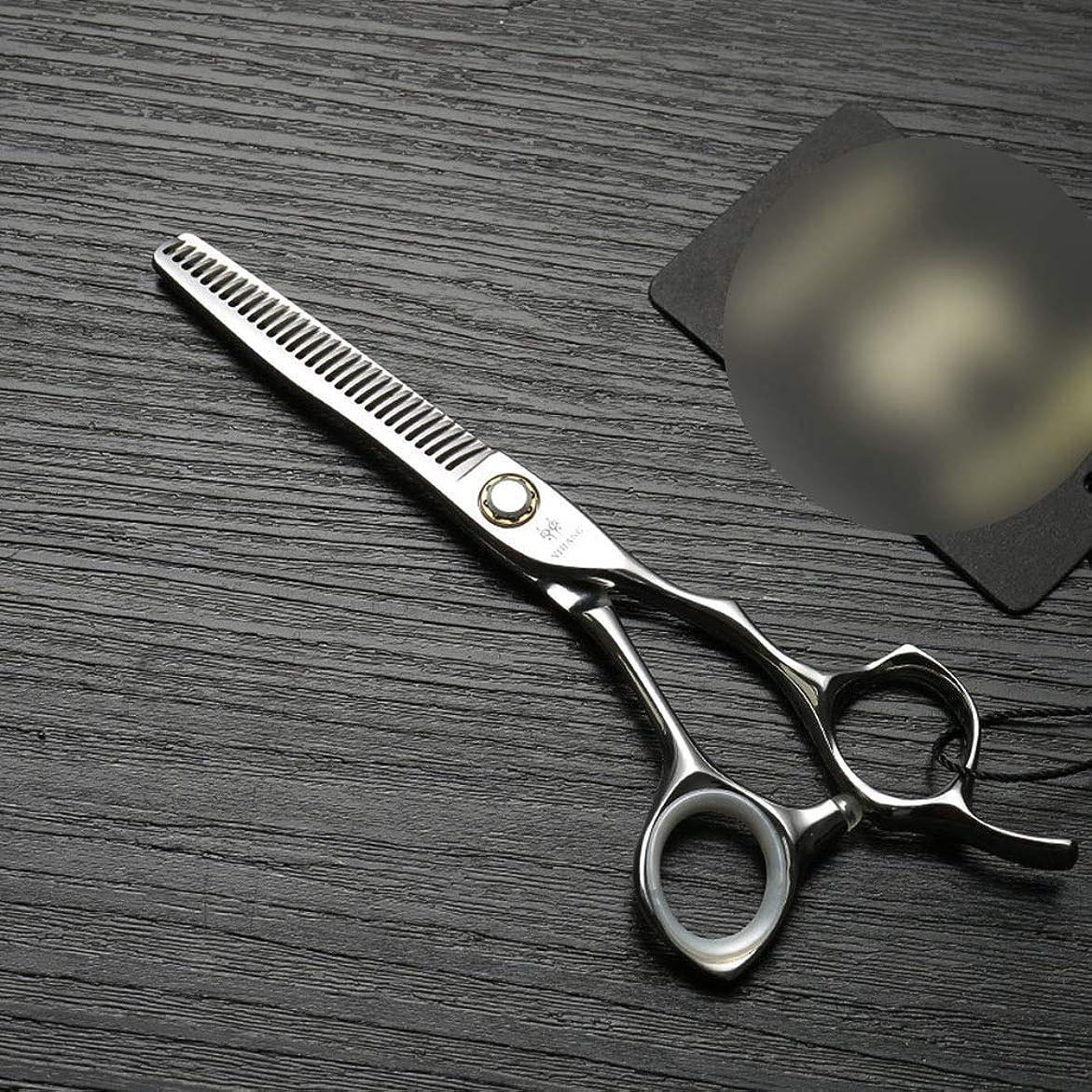 プライム皮肉ハンサム理髪用はさみ 6インチプロフェッショナル理髪はさみ、ベアリングねじ、ステンレス鋼のはさみはさみヘアカットはさみステンレス理髪はさみ (色 : Silver)