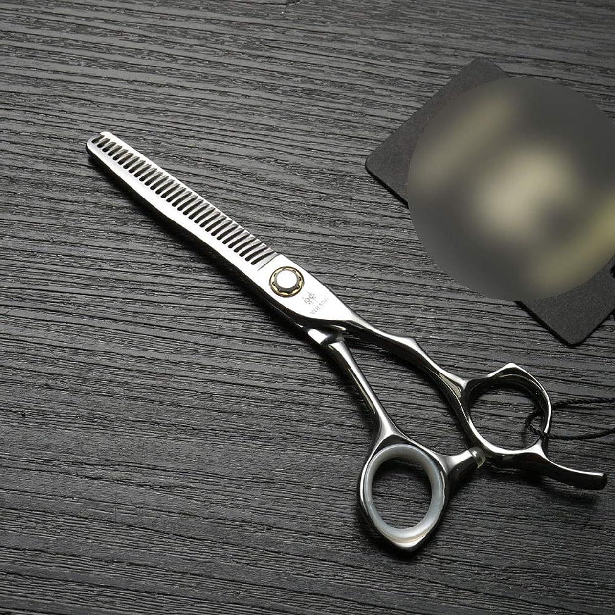 Blian1 6インチの専門の理髪師はさみ軸受けねじ、ステンレス鋼の薄くなるはさみ (色 : Silver)
