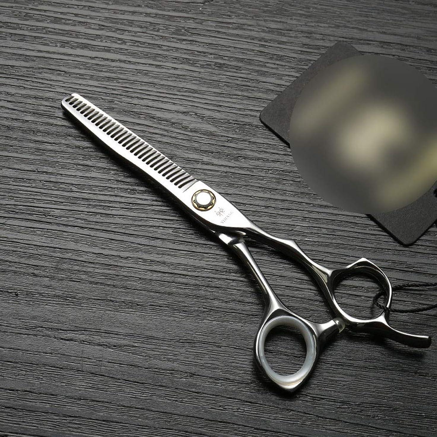 理髪用はさみ 6インチプロフェッショナル理髪はさみ、ベアリングねじ、ステンレス鋼のはさみはさみヘアカットはさみステンレス理髪はさみ (色 : Silver)