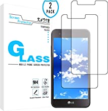 KATIN LG Rebel 3 LTE Screen Protector - [2-Pack] for LG Rebel 3 LTE Tempered Glass Screen Protector Easy to Install, Bubble Free with Lifetime Replacement Warranty