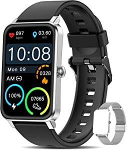 Smart Watch for Android Phones and iOS Phones, Fitness Tracker for Women Men, with Heart Rate Monitor, Blood Oxygen Sleep Monitor, 8 Sports Modes, IPX68 Swimming Waterproof, Your Healthy Life Helper
