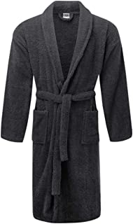 Terry Bathrobes Towel with Slipper Bathrobes Unisex Lightweight With Side Pocket
