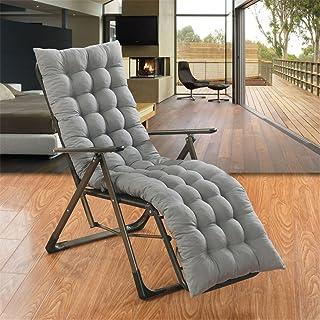 Ommda zimowa poduszka na wysokie oparcie na krzesło pamięciowe bawełna leżak krzesło ogrodowe podkładka z krawatami szara ...