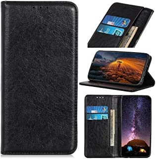 SDDLRM Cover For Oppo A73 2020 Wallet Case, Magnetic Closure Crazy Horse Texture PU Leather Folio Kickstand Case Smartphon...