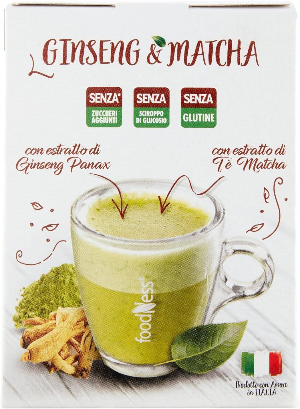 Foodness Preparato Monodose Per Caffe Al Ginseng Matcha 5 Confezioni Da 10 Bustine Tot 50 Bustine Amazon It Alimentari E Cura Della Casa
