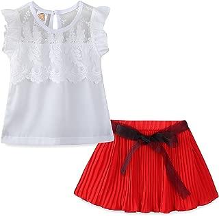 Mud Kingdom Little Girls Short Sets Summer Chiffon Tank Tops and Shorts Outfits