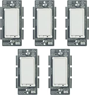 Jasco 14318 Z-Wave Plus Wireless Lighting Control On/Off Switch 5-Pack
