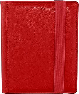 Dex Protection Dex Binder 4 Red Deluxe Portfolio 4-Pocket Velvet-Lined Album Holds 160 Cards Double Sided, Side-Load Binder fits Magic, Pokemon, Yu-Gi-Oh