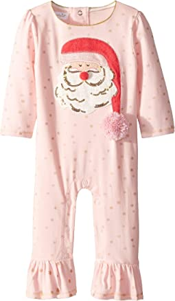 Christmas Santa Ruffle Long Sleeve One-Piece Playwear (Infant)