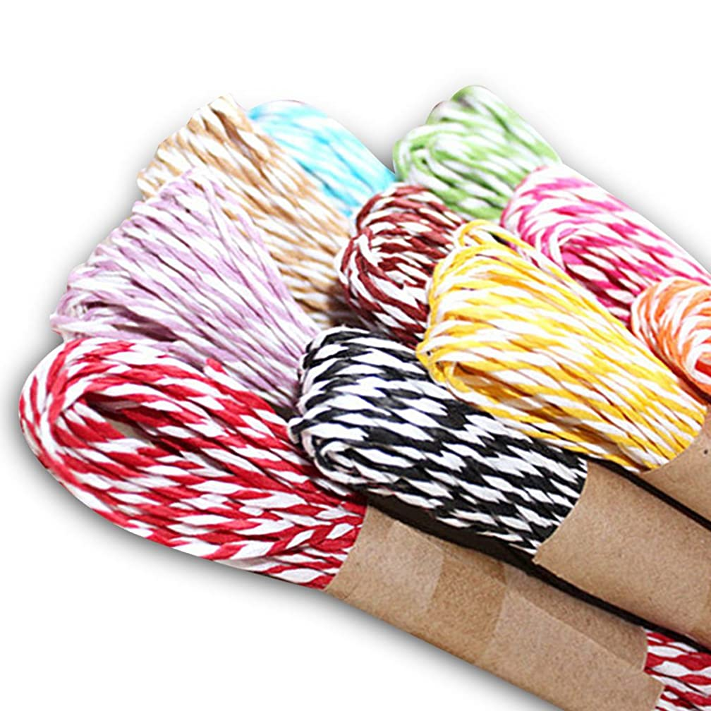 G2PLUS 12 Colors Raffia Stripes Paper String for DIY Making,120 Yards Paper Craft String/Cord/Rope for Gift Wrapping,Party Favor
