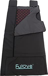 Fulove Upgrade Black Color Tourmaline Stone Far Infrared Sauna Blanket,sunlighten Sauna deep penetrating FIR Heat Infrared Therapy for Various Pain,Infrared saunas at Home,Large Size