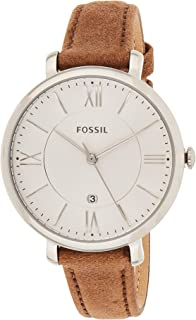 Fossil Womens Quartz Watch, Analog Display and Leather Strap ES3708