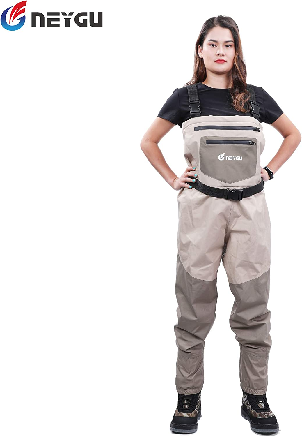 NEYGU Men's Breathable Fly Fishing Wader, Waterproof Chest Wader with Stocking Foot