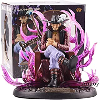 One Piece Anime Dracule Mihawk Figure Statue PVC Action Figure Collectible Model Toy 19cm