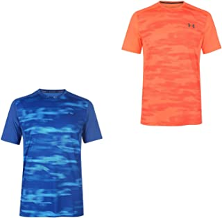 Official Brand Under Armour Raid Training T-Shirt Mens Top Tee Shirt Fitness Petrol Blue Small