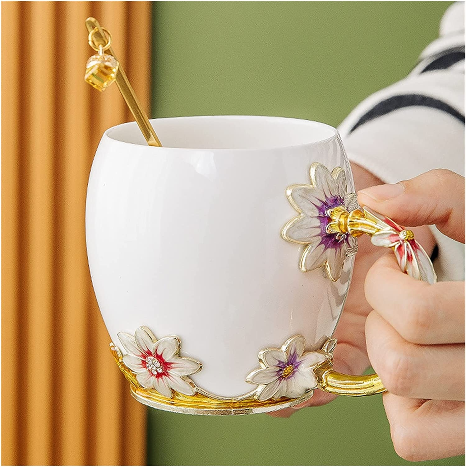 Coffee cups Los Mail order cheap Angeles Mall 2 Pcs Water Tea Cup Gift Couple Ceramic