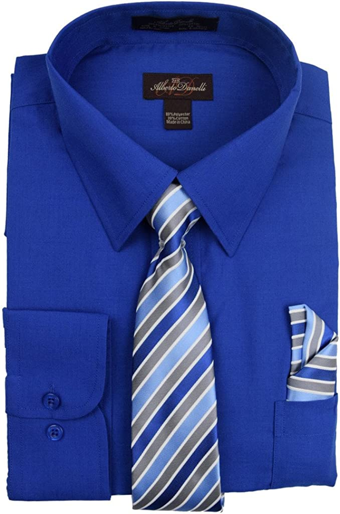 quality assurance Alberto Danelli Memphis Mall Men's Long Sleeve with Shirt Dress Tie Matching
