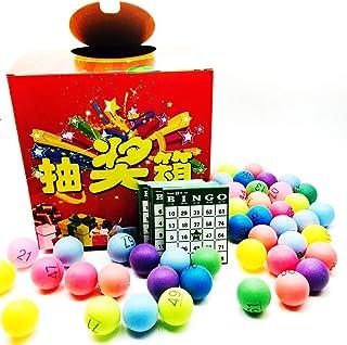ST TS ビンゴ ナンバー 入り ボール 80個 抽選箱 ビンゴカード 60枚 セット ビンゴ大会 くじ引き 抽選会