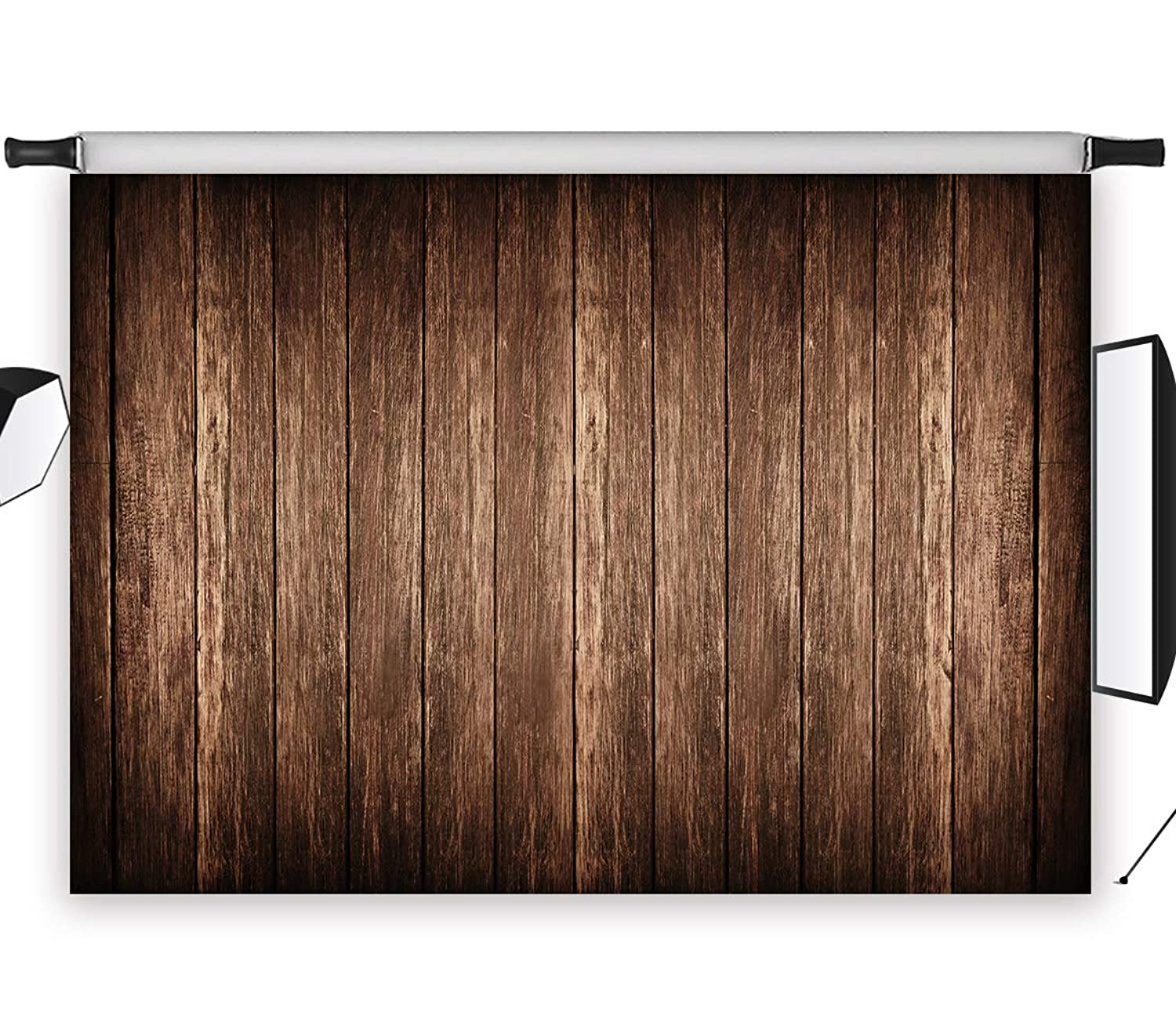 LB Dark Black Brown Rustic Barn Wood Backdrops for Photography Vintage Wooden Floor Photo Background Baby Shower Cake Smash Banner Customized Vinyl 7x5ft Studio Props DZ854