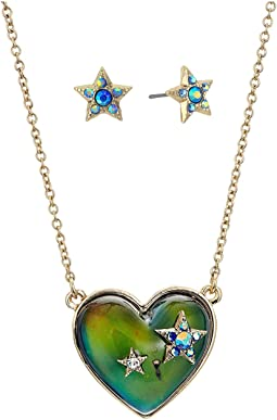 Betsey Johnson - Multicolor and Gold Heart Mood Set