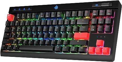 STOGA MK17 Gaming Keyboard RGB LED Backlit Wired Blue Switches Mechanical Keyboard with Multi-Media Keys and N-Key Rollove...