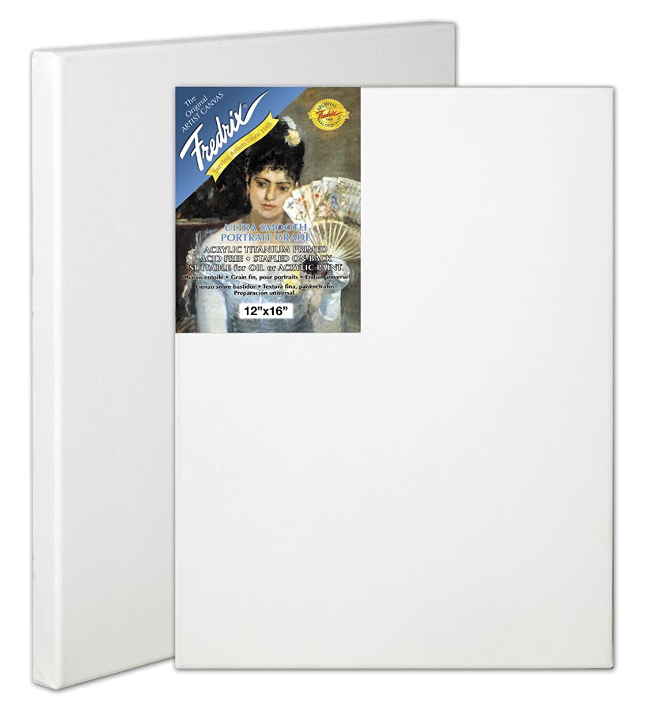 Fredrix 5605 Ultra Smooth Stretched Canvas, 12 by 16-Inch