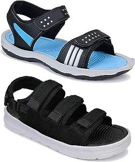 Camfoot Men's (9233-1871) Casual Stylish Sandals (Set of 2 Pair)