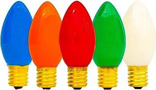 EST. LEE DISPLAY L D 1902 C-7 Multi-Color Ceramic Twinkle Bulbs 1 Box of 25 C7 Multi Solid Color Twinkle Blinking Bulbs