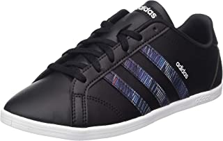Adidas CONEO QT, Women's Tennis Shoes, Black (Core Black/Core Black/Active Purple), 5.5 UK, (38 2/3 EU),F37035