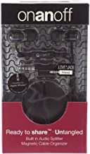 onanoff Magnum HD Noise Isolating Earbud w in-line mic, Remote and Magneat - Black