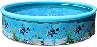 Yorten Portable Inflation-Free Hard Plastic Swimming Pool Folding Pool Family Swimming Pool Round Swimming Pool for Babies...