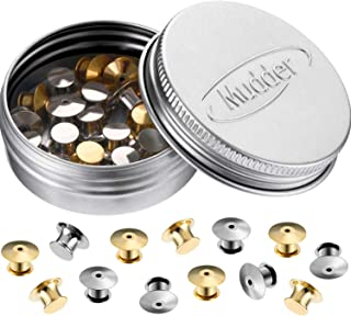 Mudder 30 Pieces Locking Pin Keepers Backs No Tool Required (Silver and Gold)