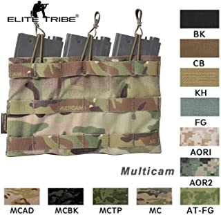 Elite Tribe 5.56 Triple Open Top Mag Pouch Tactical Combat Molle Magazine Pouch Mag Holder Emerson