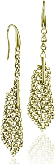 18K Gold Electro Plated Perline Small Cone Earring